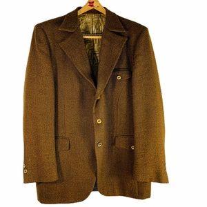 vintage ratner Brown blazer Union made 1960's era